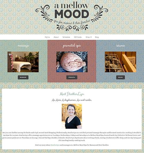 Boulder Website Design Massage Therapist