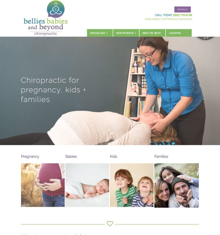 Boulder Website Design for Chiropractor