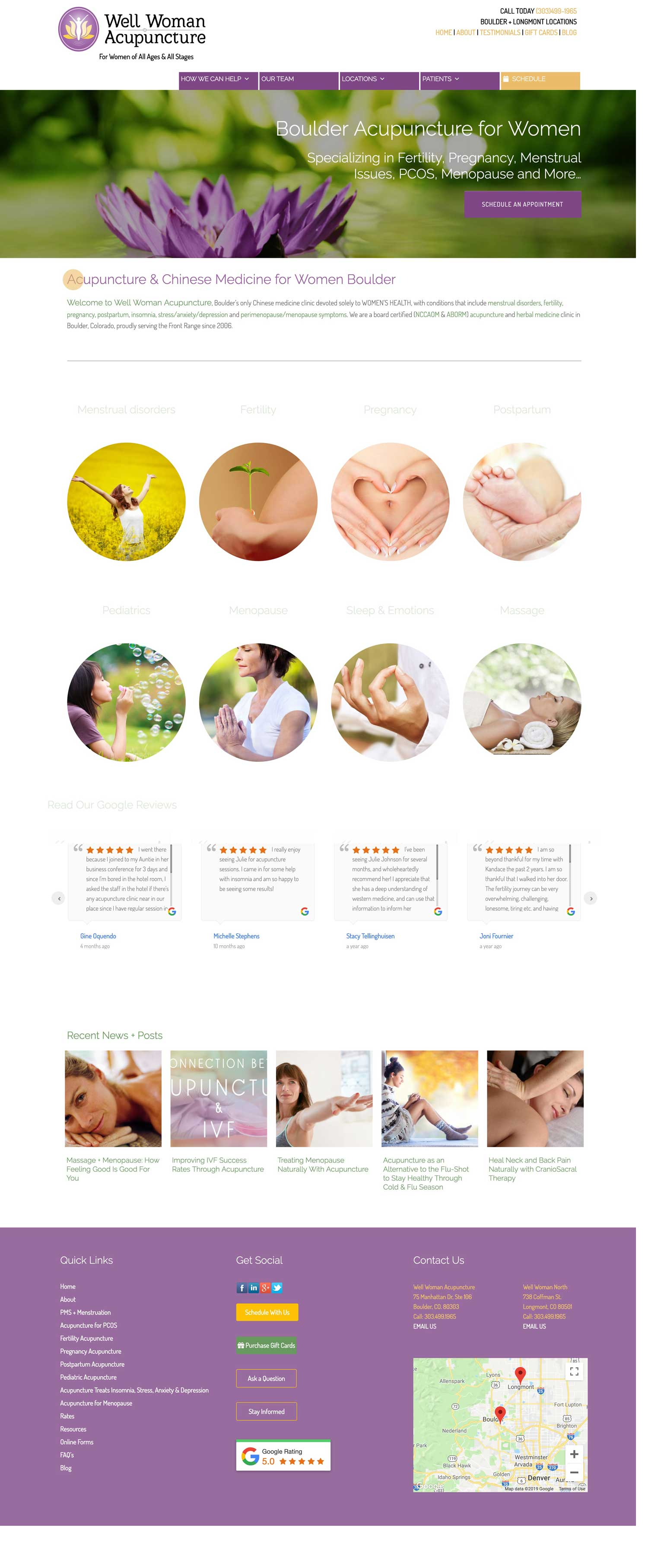 Acupuncturist Website Design