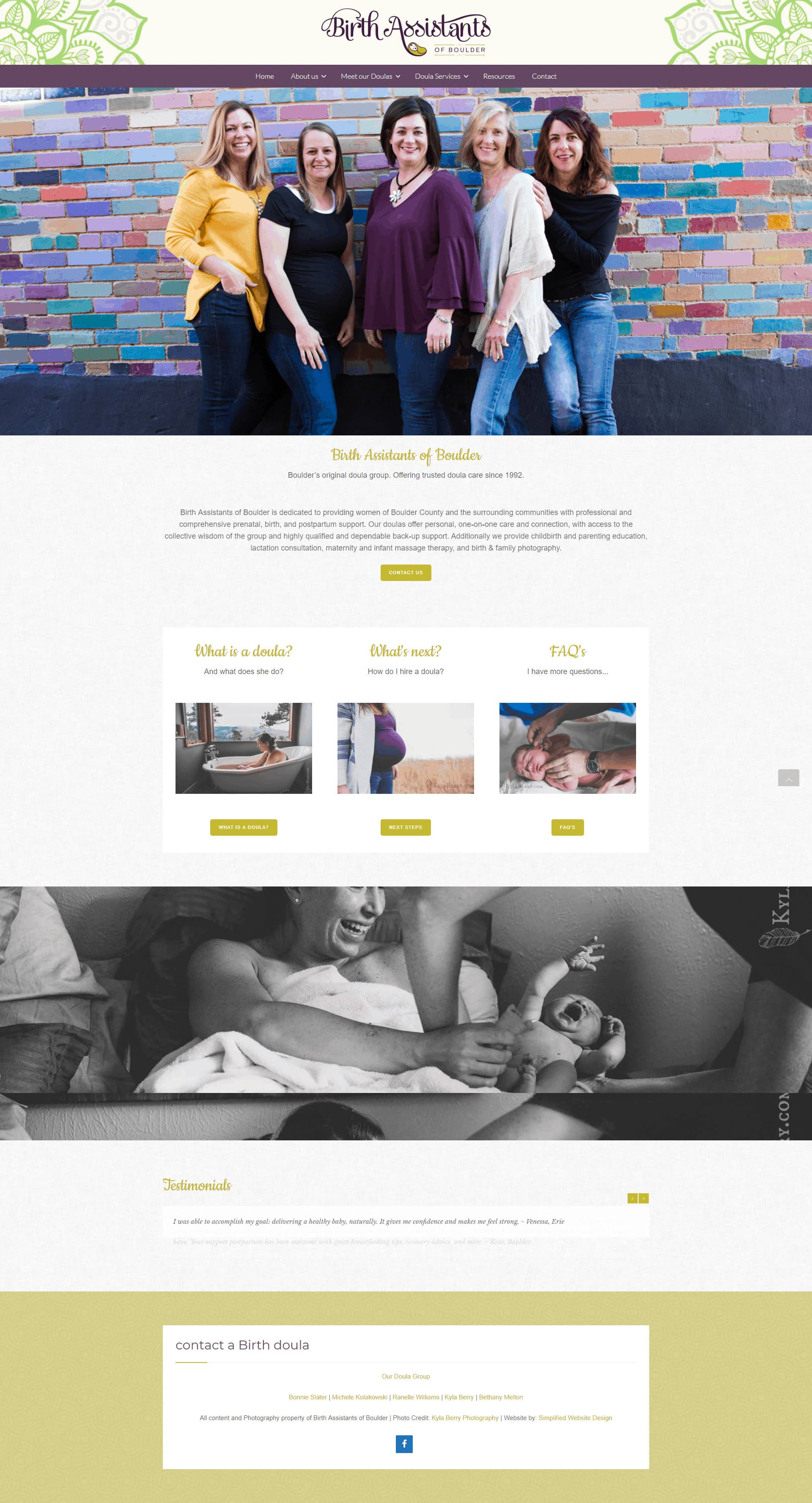 Website Design for Doulas