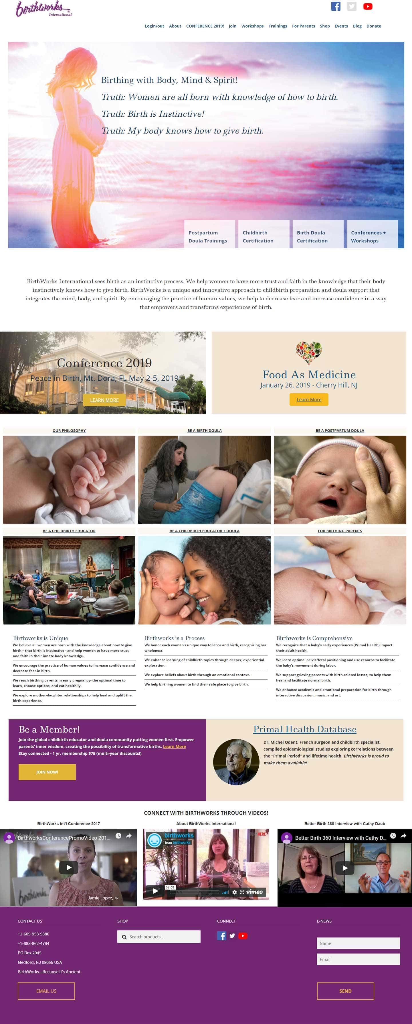 Website Design for Birth Professionals