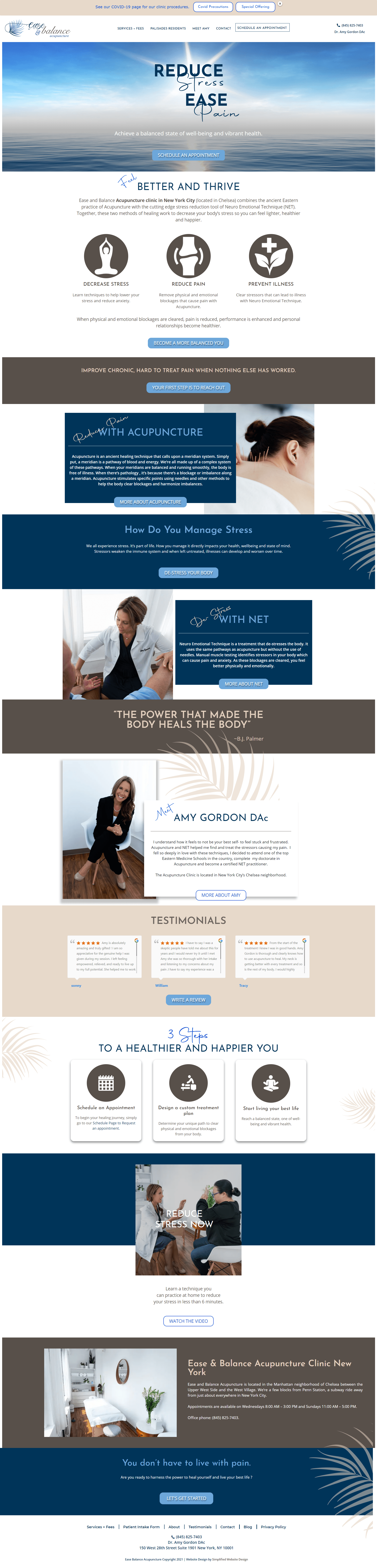 Example of Website Design for Acupuncture Clinic